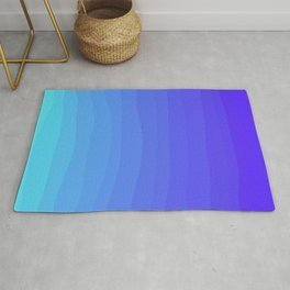 Cobalt Light Blue gradient Rug