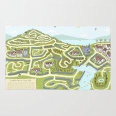 Limestone Village Maze Rug