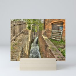 Sluice Gate at the Water mill Mini Art Print