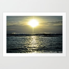 Sun Rise Over the Vast Ocean Art Print