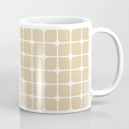 Modern Cubes - Gold + Teal Coffee Mug