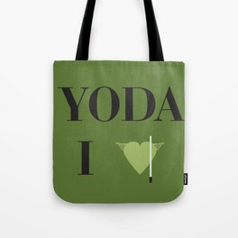 I heart Yoda Tote Bag