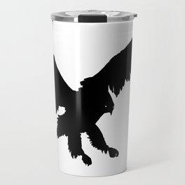 Eagle Black Silhouette Pet Animal Cool Style Travel Mug