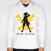 luffy Hoodies featuring Monkey D. Luffy by KerzoArt
