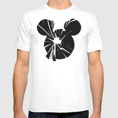 Mickey Is Dead No.1 Mens Fitted Tee MEDIUM White