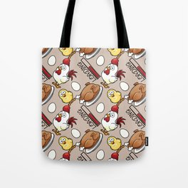 chicken loading Tote Bag