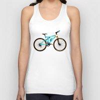 brompton Tank Tops featuring Mountain Bike by Wyatt Design