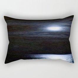 Moon Over Lake Michigan Rectangular Pillow