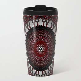 Decorative Red Mandala Design Travel Mug