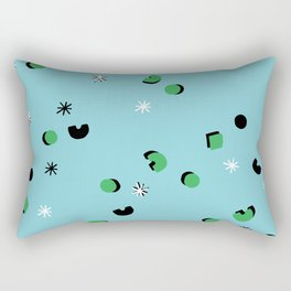 Green Confetti Rectangular Pillow