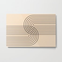 Abstraction_LINE_CONNECT_POP_ART_008K Metal Print