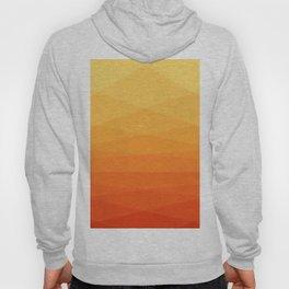 Orange and yellow ombre polygonal geometric pattern Hoody