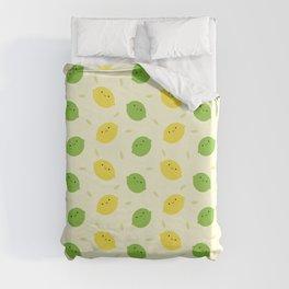 Kawaii Lemons & Limes Duvet Cover