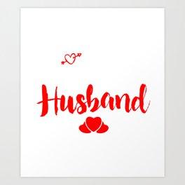 I Love My Crazy Husband Couples Cupids Valentinus Valentines Day Gift Art Print