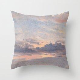 John Constable - A Cloud Study, Sunset Throw Pillow