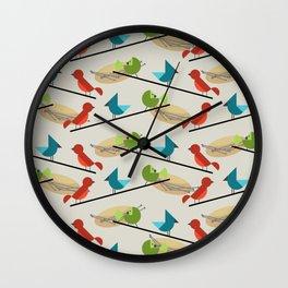 Mid Century Modern Birds Wall Clock