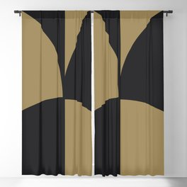 Diamond Series Round Checkers Charcoal on Gold Blackout Curtain