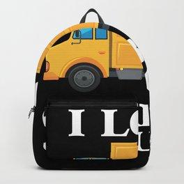 Love Garbage Truck kids boy girl toddler Trucks Backpack