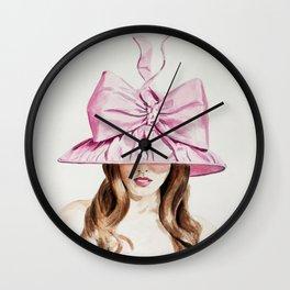 Pink Derby Hat Wall Clock