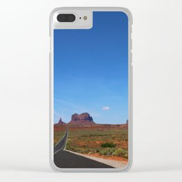 Traveling On Highway 163 Clear iPhone Case