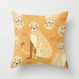 Cheetah, African Wildlife Throw Pillow