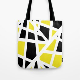 Abstract Interstate  Roadways Black & Yellow Color Tote Bag