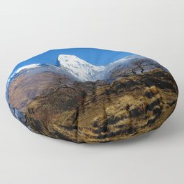 Panoramic View Of Annapurna Ghorepani Poon Hill Floor Pillow