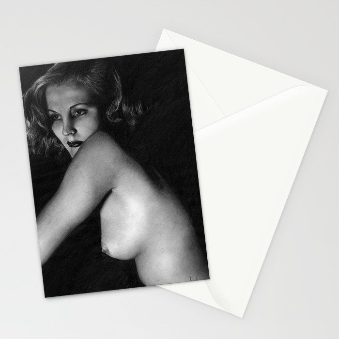 Nude vintage girl Stationery Cards
