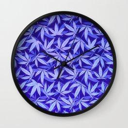 Purple Haze - Cannabis / Hemp / 420 / Marijuana  - Pattern Wall Clock