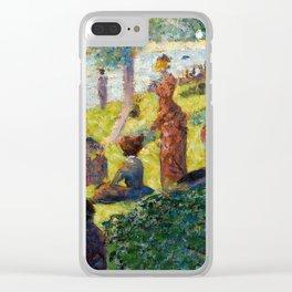 "Georges Seurat ""Oil Sketch for La Grande Jatte"" Clear iPhone Case"