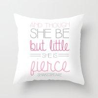 fierce Throw Pillows featuring Fierce by BySamantha | Samantha Ranlet