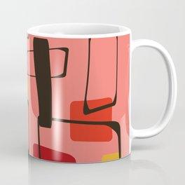 Bold Orange Art Deco Coffee Mug