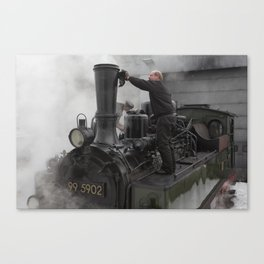 Steam locomotive 99 5902 from 1897 Canvas Print