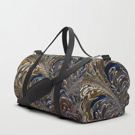 Golden Tropical Leaves Duffle Bag