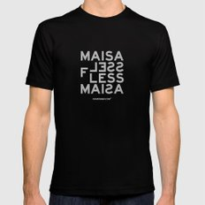 Palindrome: Ma is as selfless... Mens Fitted Tee Black MEDIUM