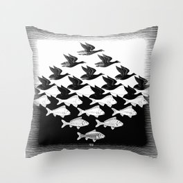 Maurits Cornelis Escher - Sky and Water 1 Throw Pillow