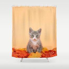 Autumn Kitten Shower Curtain
