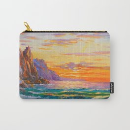 Sunset on the rocky shore Carry-All Pouch