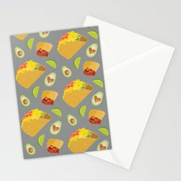 Mexican Food Pattern Stationery Cards