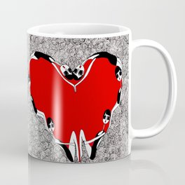make a heart Coffee Mug