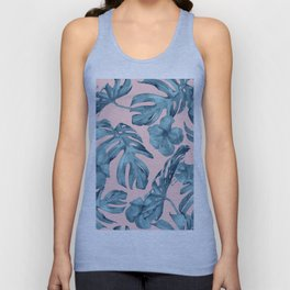 Island Life Teal on Light Pink Unisex Tank Top