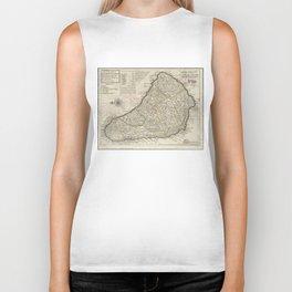 Vintage Map of Barbados (1736) Biker Tank