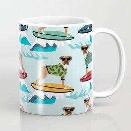 Boxer surfing pattern cute pet gifts dog lovers boxer dog Coffee Mug