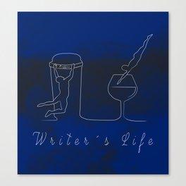 Writer´s Life Canvas Print