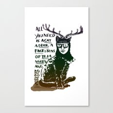 Hipster Cat giving Smart Advice Canvas Print