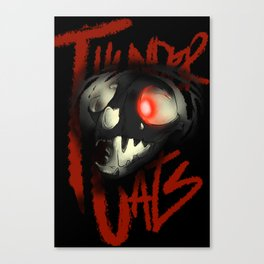 the thunder skull Canvas Print