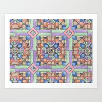 Trippy Geometry Art Print