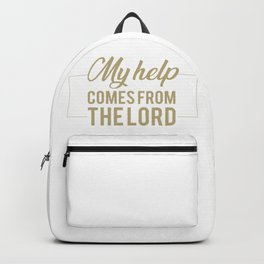 Psalm 121:2 My help comes from the lord.Christian,BibleVerse Backpack