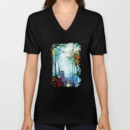 Tardis And The Street Chair Unisex V-Neck