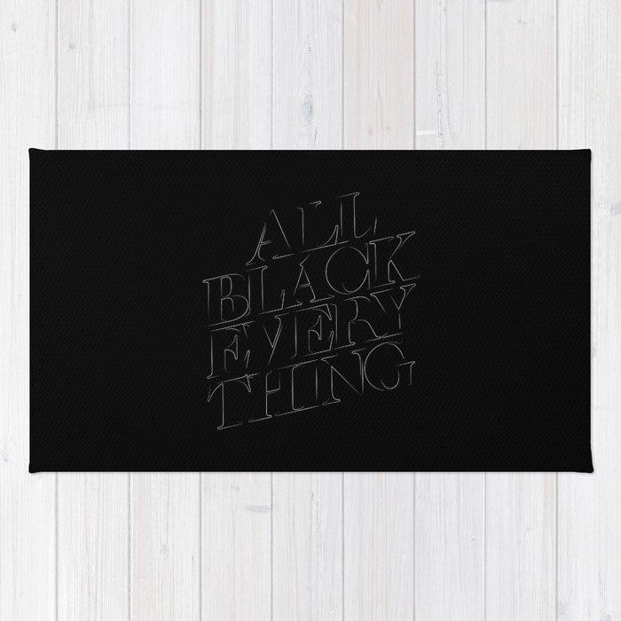 All Black Everything Rug